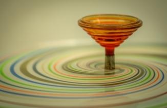 Glass swirls by Nicola Robley