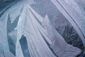 Frost Pattern on Window by John Williams
